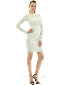 Boatneck Sweetheart Floral Lace Dress