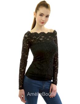 Floral Lace Off Shoulder Blouse Top