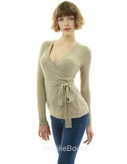 Long Sleeve Wrap Sweater