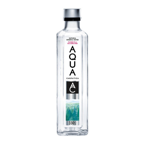 AQUA CARPATICA NATURAL STILL MINERAL WATER GLASS BOTTLE 330 ML