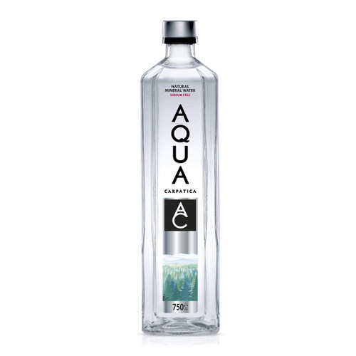 AQUA CARPATICA NATURAL STILL MINERAL WATER GLASS BOTTLE 750 ML