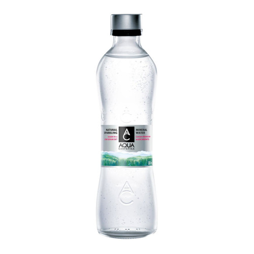 AQUA CARPATICA NATURAL SPARKLING MINERAL WATER GLASS BOTTLE 330 ML