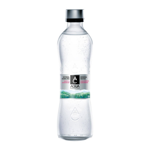 AQUA CARPATICA NATURAL SPARKLING MINERAL WATER GLASS BOTTLE 750 ML