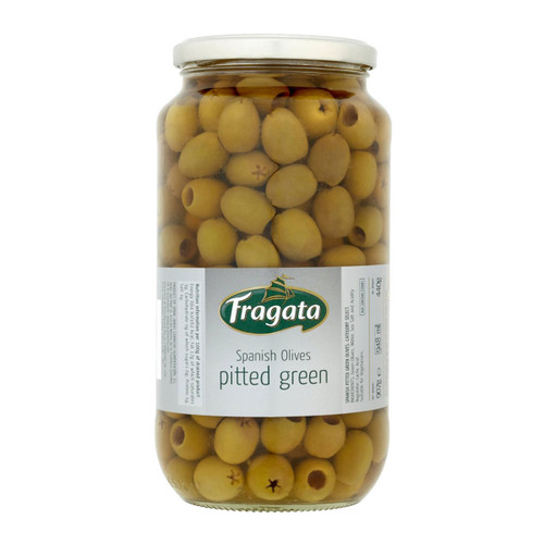 FRAGATA  PITTED GREEN OLIVES  HOME STYLE  900 GM