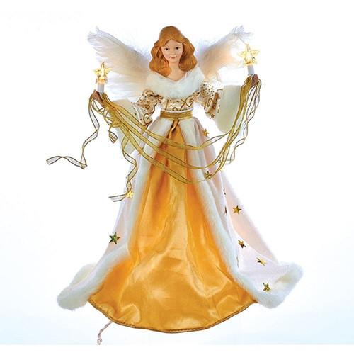 Cream & Gold Angel Lit Tree Top