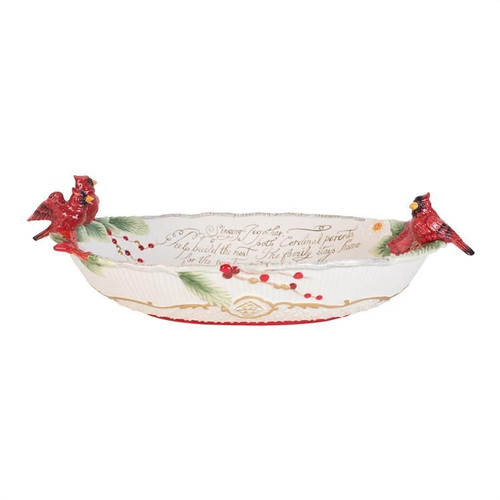 Cardinal Christmas Centerpiece