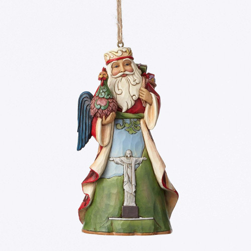 Brazillian Santa Ornament