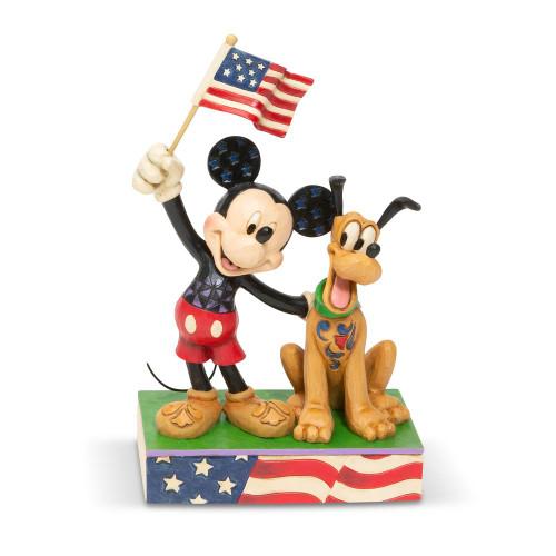 Mickey and Pluto Patriotic