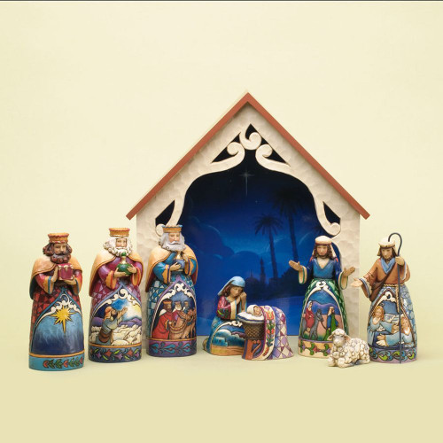 Deluxe Mini Nativity 9 Pc Set