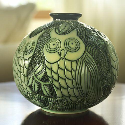 Owls Vase