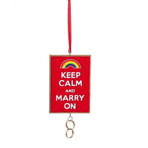 Keep Calm & Marry On Ornament