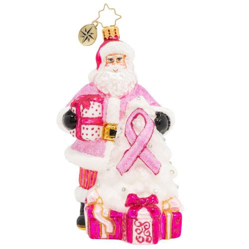 Pink Ribbon Santa
