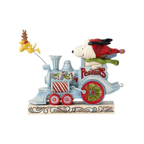 Snoopy Christmas Train Figurine