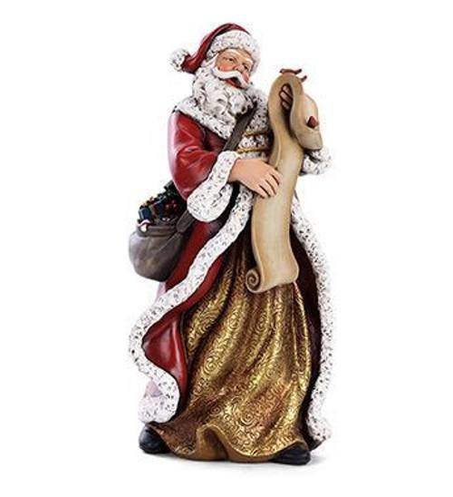 Santa With List And Cardinal