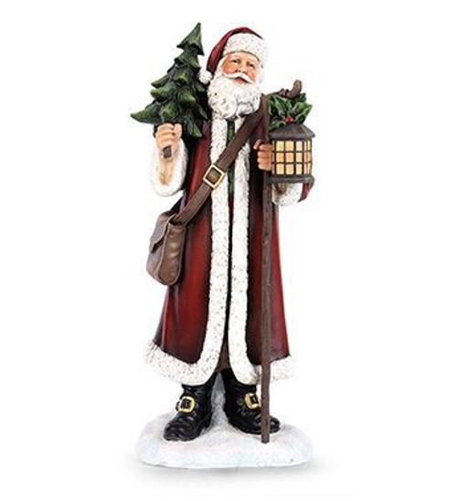 Santa With Tree And Lantern