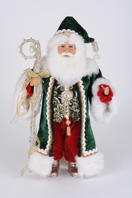 Emerald Elegance Santa
