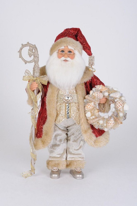 Red Coat Seashell Santa