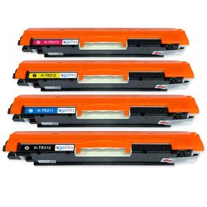 1 Go Inks Set of 4 Laser Toner Cartridges to replace HP CE310A / CE311A / CE312A / CE313A Compatible / non-OEM for HP Colour & Pro Laserjet Printers