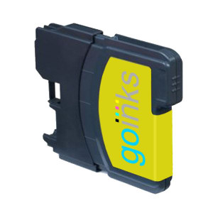 1 Go Inks Yellow Ink Cartridge to replace Brother LC985Y Compatible / non-OEM for Brother DCP & MFC Printers
