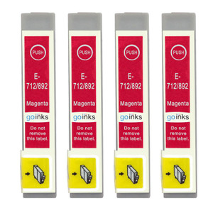 4 Go Inks Magenta Ink Cartridges to replace Epson T0713 Compatible / non-OEM for Epson Stylus Printers