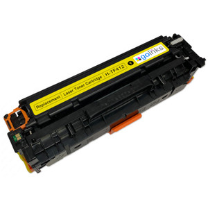 1 Go Inks XL Yellow Laser Toner Cartridge to replace HP CF412X Compatible / non-OEM for HP Colour & Pro Laserjet Printers