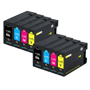 2 Go Inks Set of 4 Ink Cartridges to replace Canon PGI-1500XL Compatible / non-OEM for PIXMA Printers (8 Pack)