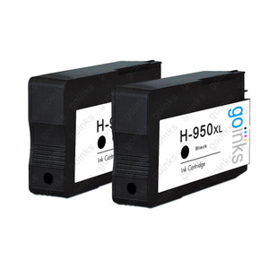 2 Go Inks Black Compatible Printer Ink Cartridges to replace HP 950Bk (XL Capacity) Compatible / non-OEM for HP Photosmart Printers
