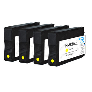 4 Go Inks Yellow Compatible Printer Ink Cartridges to replace HP 935Y (XL Capacity) Compatible / non-OEM for HP Photosmart Printers