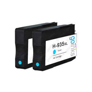 2 Go Inks Cyan Compatible Printer Ink Cartridges to replace HP 935C (XL Capacity) Compatible / non-OEM for HP Photosmart Printers