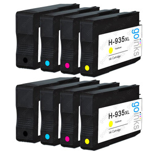 2 Go Inks Compatible Set of 4 to replace HP 934 & 935 Printer Ink Cartridge (8 Inks) - Black, Cyan,  Magenta, Yellow Compatible / non-OEM for HP Photosmart Printers