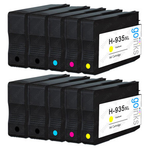 2 Go Inks Compatible Set of 4 + Extra Black to replace HP 934 & 935 Printer Ink Cartridge (10 Inks) - Black, Cyan,  Magenta, Yellow Compatible / non-OEM for HP Photosmart Printers