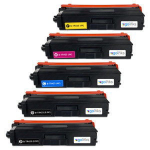 1 Go Inks Set of 4 + extra Black Laser Toner Cartridges to replace Brother TN423 Compatible / non-OEM for Brother DCP, MFC & HL Printers