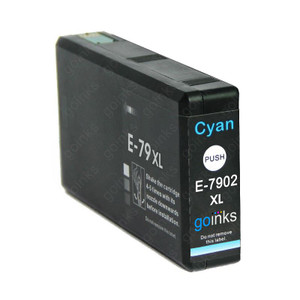 1 Go Inks Cyan Ink Cartridge to replace Epson T7902 (79XL Series) Compatible / non-OEM for Epson WorkForce Pro Printers