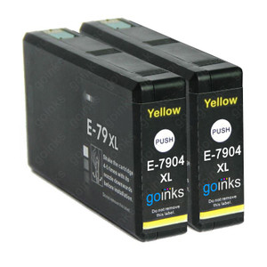 2 Go Inks Yellow Ink Cartridges to replace Epson T7904 (79XL Series) Compatible / non-OEM for Epson WorkForce Pro Printers