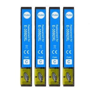 4 Go Inks Cyan Ink Cartridges to replace Epson T3592 (35XL Series) Compatible / non-OEM for Epson Expression Home Printers