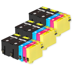 3 Go Inks Set of 4 + extra Black Ink Cartridges to replace Epson T3476+3471 (34XL Series) Compatible / non-OEM for Epson WorkForce Pro Printers (15 Inks)