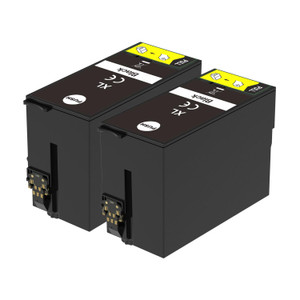 2 Go Inks Black Ink Cartridges to replace Epson T3471 (34XL Series) Compatible / non-OEM for Epson WorkForce Pro Printers