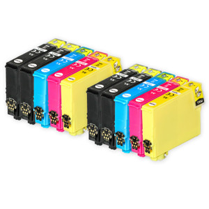 2 Go Inks Set of 4 Ink Cartridges to replace Epson T3476 (34XL Series) Compatible / non-OEM for Epson WorkForce Pro Printers (8 Inks)
