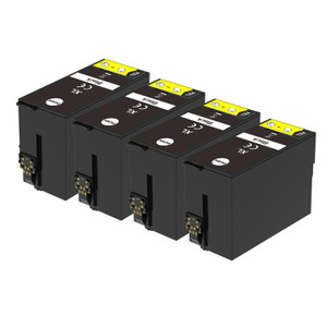 4 Go Inks Black Ink Cartridges to replace Epson T3471 (34XL Series) Compatible / non-OEM for Epson WorkForce Pro Printers