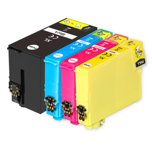 1 Go Inks Set of 4 Ink Cartridges to replace Epson T3476 (34XL Series) Compatible / non-OEM for Epson WorkForce Pro Printers (4 Inks)