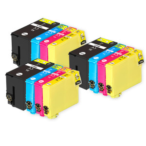 3 Go Inks Set of 4 Ink Cartridges to replace Epson T3476 (34XL Series) Compatible / non-OEM for Epson WorkForce Pro Printers (12 Inks)