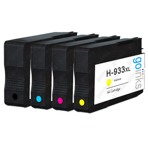 1 Go Inks Compatible Set of 4 to replace HP 932 Printer Ink Cartridges (4 Inks) - Black, Cyan,  Magenta, Yellow Compatible / non-OEM for HP Officejet Printers
