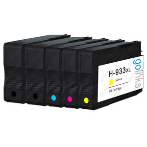 1 Go Inks Compatible Set of 4 + Extra Black to replace HP 932 Printer Ink Cartridges (5 Inks) - Black, Cyan,  Magenta, Yellow Compatible / non-OEM for HP Officejet Printers