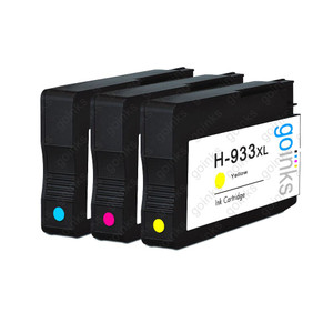 1 Go Inks Compatible C/M/Y Sets to replace HP 933 Colour Printer Ink Cartridges (3 Inks) - Cyan, Magenta, Yellow Compatible / non-OEM for HP Officejet Printers
