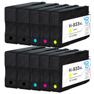 2 Go Inks Compatible Set of 4 + Extra Black to replace HP 932 Printer Ink Cartridge (10 Inks) - Black, Cyan,  Magenta, Yellow Compatible / non-OEM for HP Officejet Printers