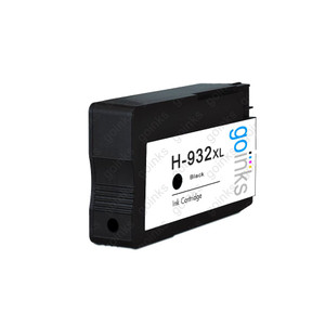 1 Go Inks Black Compatible Printer Ink Cartridge to replace HP 932Bk (XL Capacity) Compatible / non-OEM for HP Officejet Printers