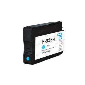 1 Go Inks Cyan Compatible Printer Ink Cartridge to replace HP 933C (XL Capacity) Compatible / non-OEM for HP Officejet Printers