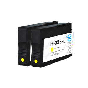 2 Go Inks Yellow Compatible Printer Ink Cartridges to replace HP 933Y (XL Capacity) Compatible / non-OEM for HP Officejet Printers