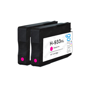 2 Go Inks Magenta Compatible Printer Ink Cartridges to replace HP 933M (XL Capacity) Compatible / non-OEM for HP Officejet Printers