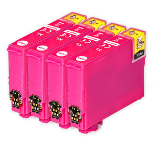 4 Go Inks Magenta Ink Cartridges to replace Epson 502XLM Compatible / non-OEM for Epson WorkForce & Expression Printers